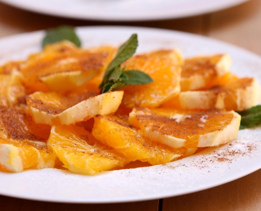 Salade d'Oranges au Miel et à la Cannelle